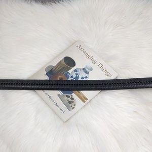 Vintage Accessories - Vintage 90s Statement Belt Fishbone Braid Leather